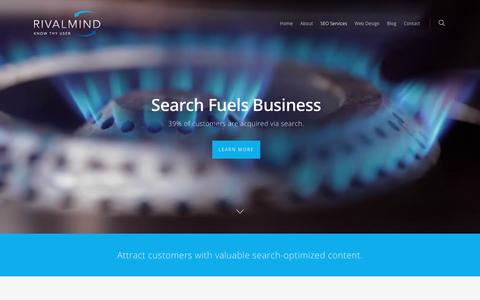 Screenshot of rivalmind.com - Chicago SEO Services Company | Search Engine Optimization - captured June 14, 2016