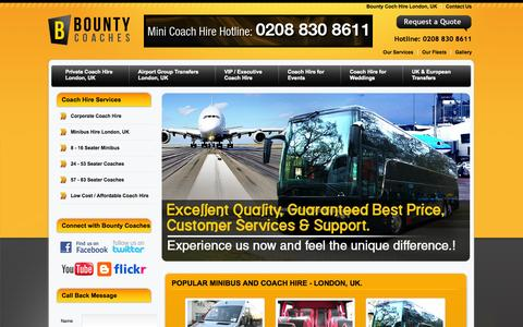 Screenshot of Home Page Privacy Page Terms Page bountycoaches.co.uk - Bounty Coaches: Coach Hire London, Coach Hire UK, Cheap Coach Hire London UK, Coach Hire Company London UK - captured Sept. 30, 2014