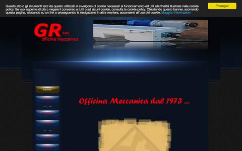 Screenshot of Home Page meccanicagr.it - Home - GRsnc - Officina Meccanica - captured Oct. 14, 2015