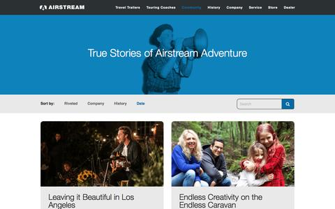 Screenshot of Blog airstream.com - Blog - Airstream - captured March 5, 2017