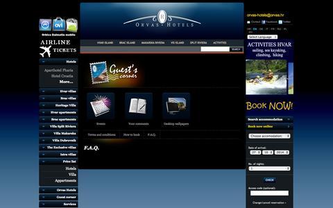 Screenshot of FAQ Page orvas-hotels.com - FAQ Croatia - captured Oct. 26, 2014