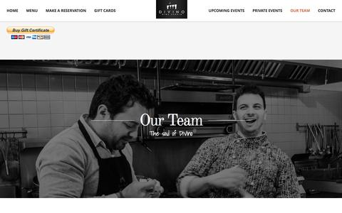 Screenshot of Team Page divinowinestudio.com - Our Team-Divino Wine Studio - Ottawa Restaurants - captured Jan. 7, 2016