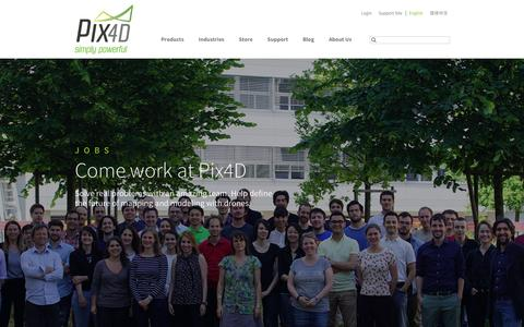 Screenshot of Jobs Page pix4d.com - Jobs - Pix4D - captured July 3, 2016