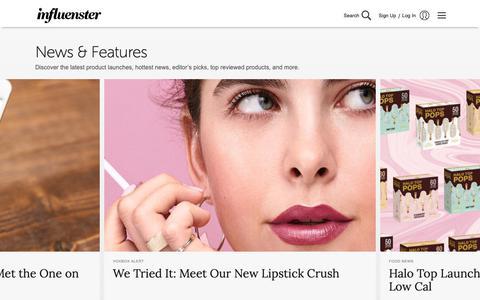 Screenshot of Press Page influenster.com - Influenster - captured Feb. 11, 2019