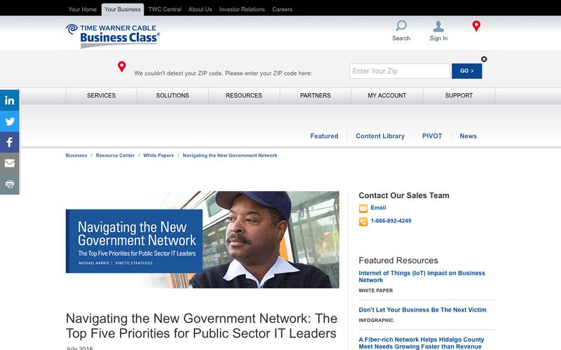 Navigating the New Government Network
