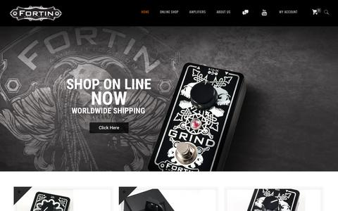 Screenshot of Home Page fortinamps.com - Fortin Amplification - captured Oct. 14, 2017