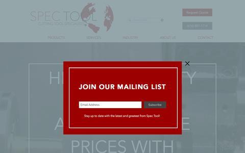 Screenshot of Home Page spec-tool.com - Home | Sparta, MI | Spec Tool - captured July 8, 2018