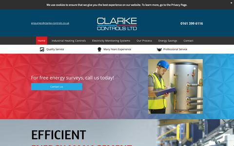 Screenshot of Home Page clarke-controls.co.uk - Energy management | Clarke Controls - captured Dec. 8, 2018