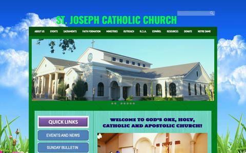 Screenshot of Home Page stjv.org - St. Joseph Catholic Church ST. JOSEPH CATHOLIC CHURCH - captured May 3, 2018
