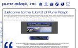 New Screenshot Pure Adapt, Inc Home Page