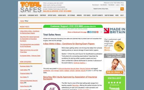 Screenshot of Blog totalsafes.co.uk - Total Safes News - captured Oct. 9, 2014