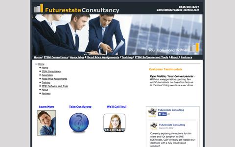 Screenshot of Site Map Page futurestate-central.com - Futurestate easycmdb ITSL team building consultants - captured Oct. 6, 2014