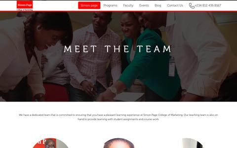 Screenshot of Team Page simon-page.com - Our Team | - captured Oct. 21, 2017