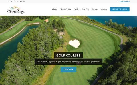 Screenshot of Home Page Terms Page giantsridge.com - Giants Ridge - captured May 23, 2016
