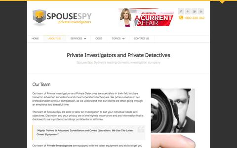 Screenshot of About Page spousespy.com.au - About Spouse Spy private investigations | Spouse Spy - captured Oct. 23, 2017