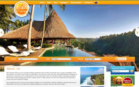 Screenshot of About Page balisurprise.com - About us   Bali Tours   Bali Travel - captured Sept. 30, 2014