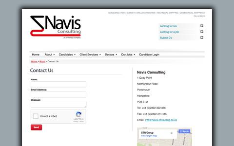 Screenshot of Contact Page navis-consulting.com - Contact Us   Maritime Experts   Navis Consulting - captured Feb. 24, 2016