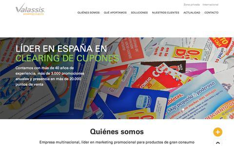 Screenshot of Home Page valassis.es - Valassis España | Home - captured June 28, 2017