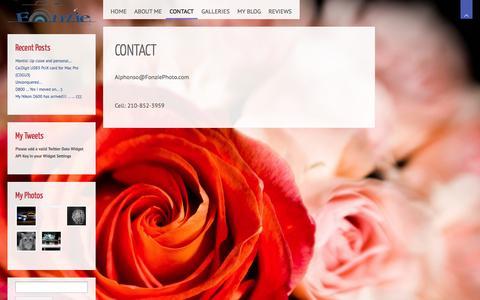 Screenshot of Contact Page fonziephoto.com - Contact | Fonzie Photo - captured Sept. 30, 2014