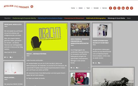 Screenshot of Press Page atelierundfriends.de - News - Atelier & Friends - captured Feb. 6, 2016