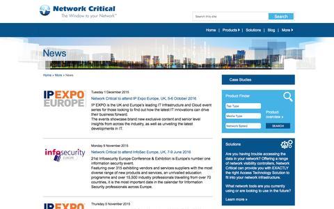 Screenshot of Press Page networkcritical.com - Network Critical   Latest News - Network Critical - captured Feb. 23, 2016