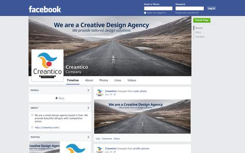 Screenshot of Facebook Page facebook.com - Creantico | Facebook - captured Oct. 27, 2014