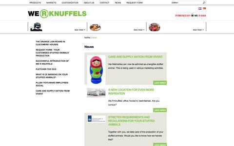 Screenshot of Press Page we-r-knuffels.com - Nieuws   We R Knuffels - captured Oct. 7, 2014