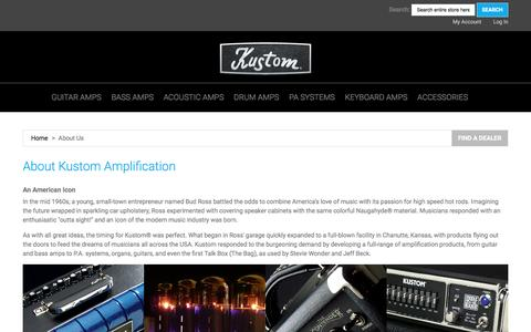 Screenshot of About Page kustom.com - About  Us - captured Nov. 27, 2016