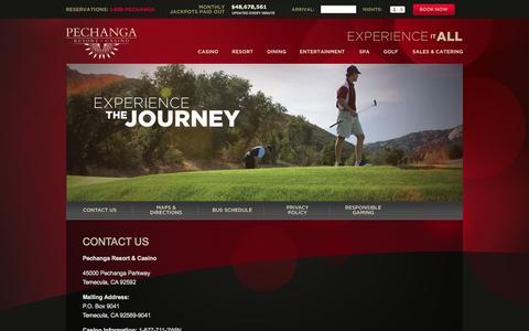 Screenshot of Contact Page pechanga.com - Contact Us - Pechanga Resort & Casino - captured Oct. 31, 2014