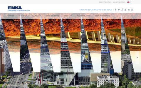 Screenshot of Home Page enka.com - ENKA İnşaat ve Sanayi A.Ş – Resmi Sitesi | Resmi Websitesi - captured Feb. 17, 2016