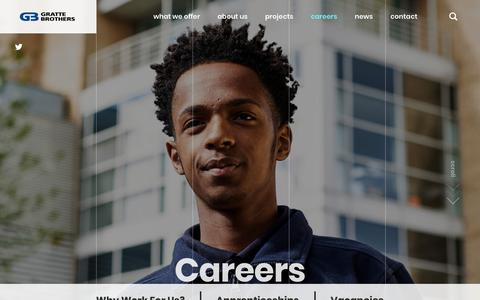 Screenshot of Jobs Page gratte.com - Careers - Gratte Brothers Group Ltd - captured Nov. 11, 2018
