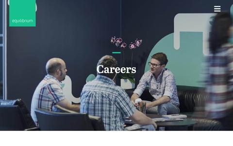Screenshot of Jobs Page equ.com.au - Careers | Equilibrium Digital Agency Perth - captured Sept. 28, 2018