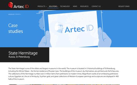 Screenshot of Case Studies Page artecid.com - Case Studies | ArtecID | Face Recognition Security System - captured March 2, 2018