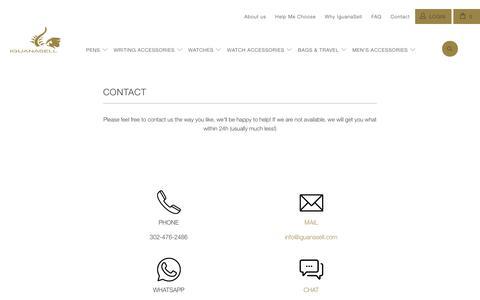 Screenshot of Contact Page iguanasell.com - Contact - Iguana Sell - captured June 7, 2017