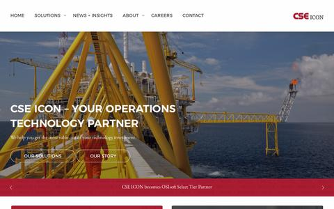 Screenshot of Home Page cse-icon.com - CSE ICON – YOUR OPERATIONS TECHNOLOGY PARTNER - captured Sept. 25, 2018
