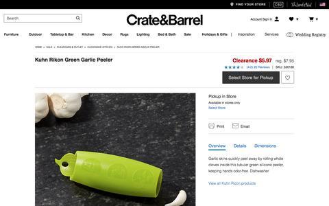 Kuhn Rikon Green Garlic Peeler   Crate and Barrel