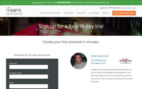 Sign Up for a Free Account   7shifts