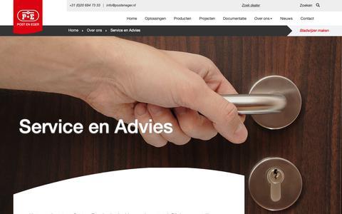 Screenshot of Support Page posteneger.nl - Post & Eger :: Service en Advies - captured Sept. 30, 2018