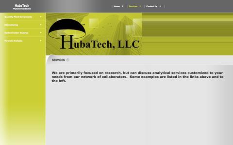 Screenshot of Services Page hubatech.com - HubaTech - Services - captured Sept. 30, 2014