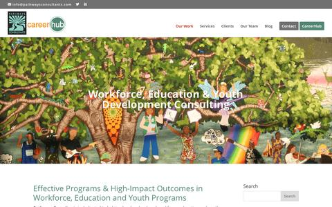 Screenshot of Home Page pathwaysconsultants.com - Pathways Consultants | Workforce, Education & Youth Development Consulting - captured May 14, 2017