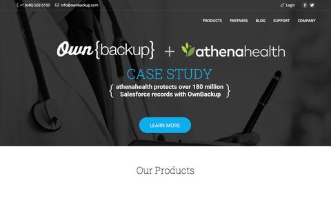 OwnBackup | Cloud to Cloud Backup and Recovery for the Enterprise