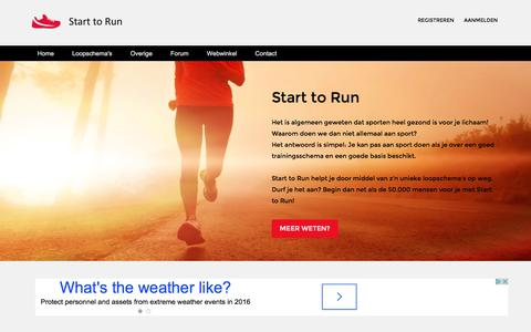 Screenshot of Contact Page start-to-run.be - Start to Run - Contacteer ons - captured May 28, 2016