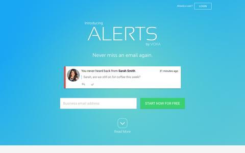 Screenshot of Trial Page voxa.com - Voxa - Messaging Intelligence - captured July 3, 2015