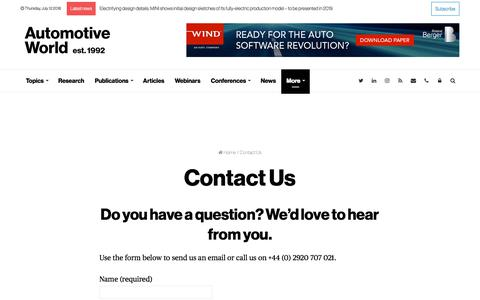 Contact Us   Automotive World