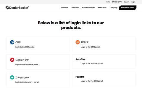 Screenshot of Login Page dealersocket.com - Login   DealerSocket - captured Dec. 16, 2019