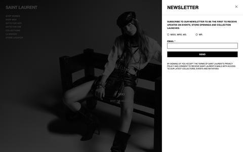Screenshot of ysl.com - Saint Laurent Official Online Store | YSL.com - captured Dec. 14, 2018