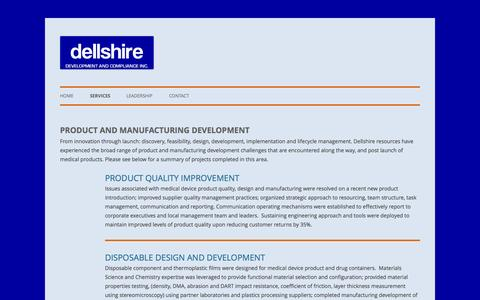 Screenshot of Services Page dellshire.com - Technical Services | DELLSHIRE DEVELOPMENT AND COMPLIANCE INC - captured Oct. 5, 2014