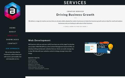 Screenshot of Services Page banksmedia.co.uk - Services | Banks Media - Manchester Web Designers - captured Oct. 29, 2014