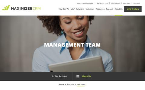Screenshot of Team Page maximizer.com - Our Team - Maximizer - captured Nov. 18, 2015