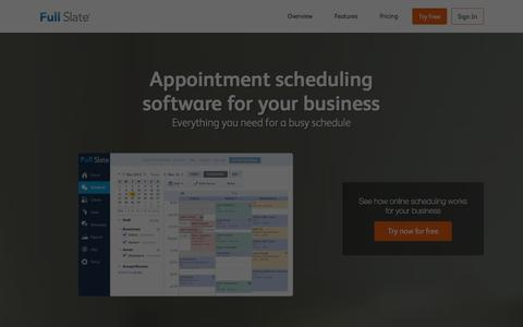 Screenshot of Contact Page fullslate.com - Online Appointment Scheduling by Full Slate - captured Jan. 4, 2016